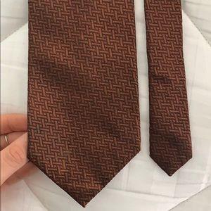 DKNY Bronze Silk Tie